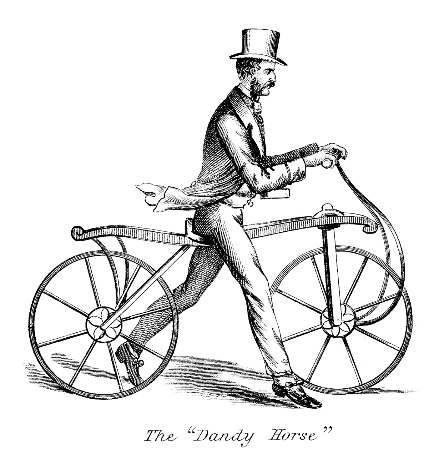 Bicycle line drawing at. Cycle clipart antique bike banner free library