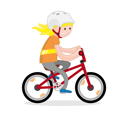 Children Cycling Transparent Clipart Free Download