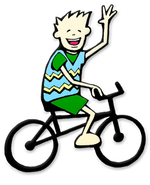 Children clipart cycling. Free pictures of kids