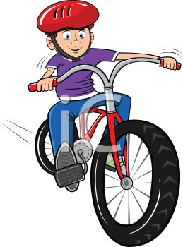 Boy a bike wearing. Riding clipart free library