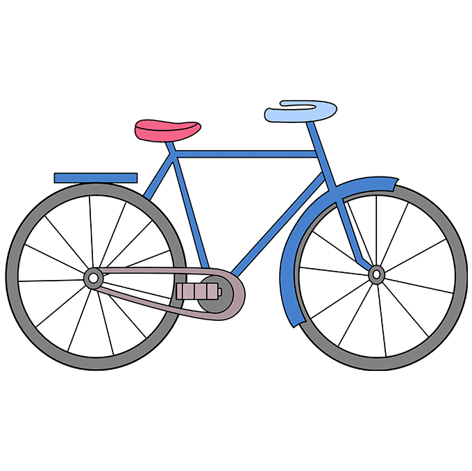 Biking drawing abstract. How to draw a
