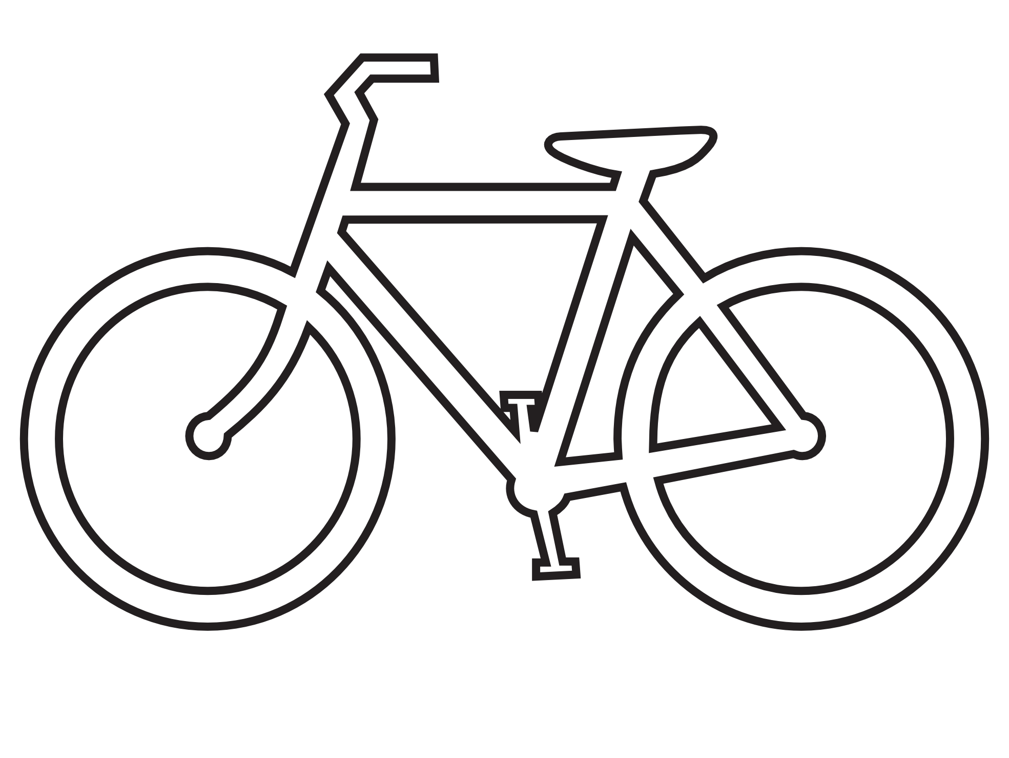 Portfolio drawing bicycle. Collection of free black