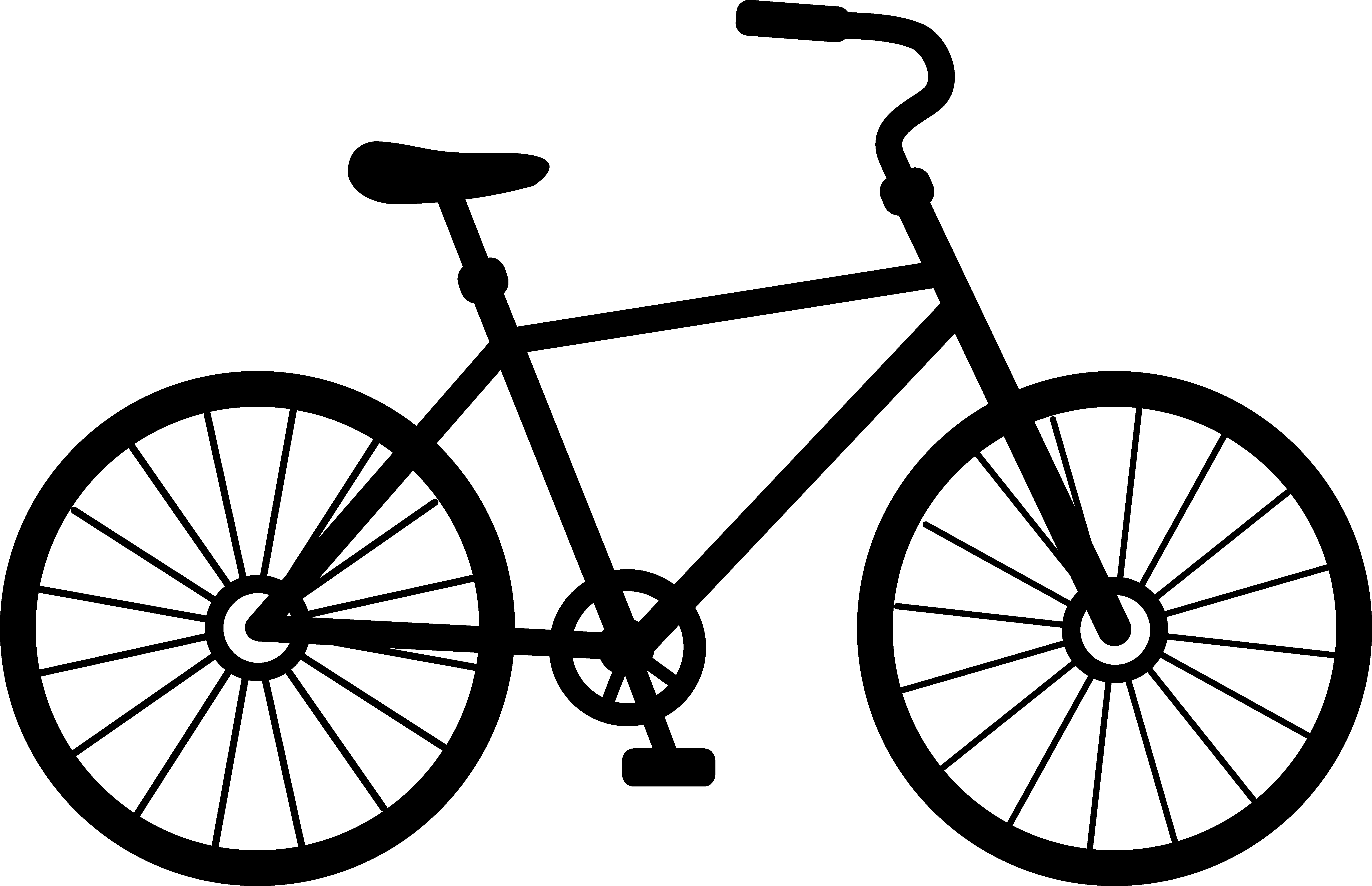 Biking drawing clip art. Collection of free cycled