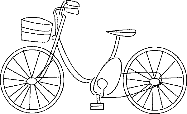 Biking drawing land transport. Bike bicycle transportation printable