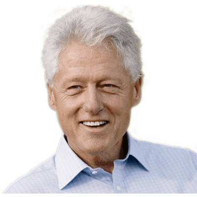 Hillary transparent face. Smiling bill clinton png
