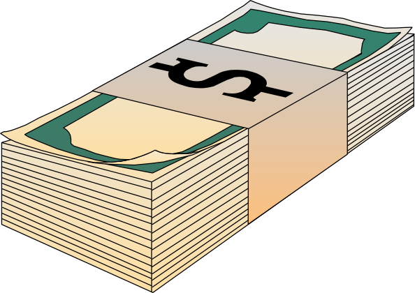 Safe drawing money stack. Clipart of bills clip