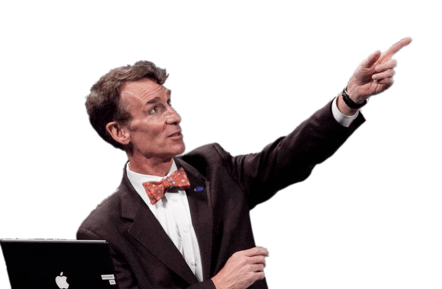 Bill nye the science guy png. During speech transparent stickpng