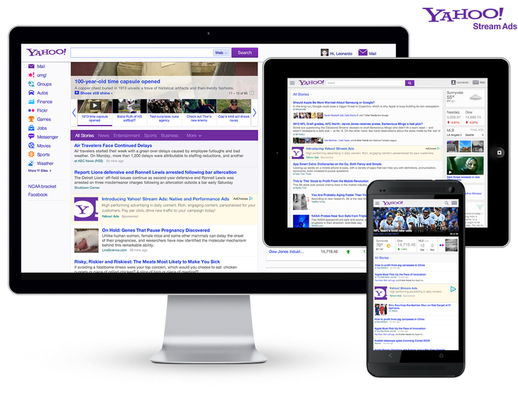 Billboard ads png. Yahoo announces new ad
