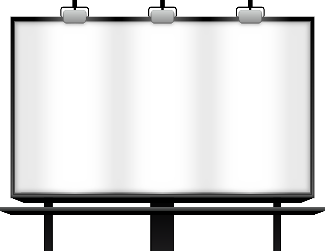 Billboard frame png. Transparent background transparentpng