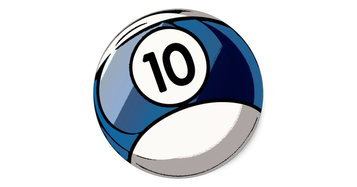 Billiards clipart 10 ball. Comic style number classic