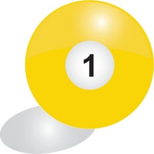 Billiards clipart pool ball. Image number solid color