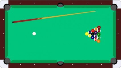 Billiards clipart pool game. Free scheibej table cue
