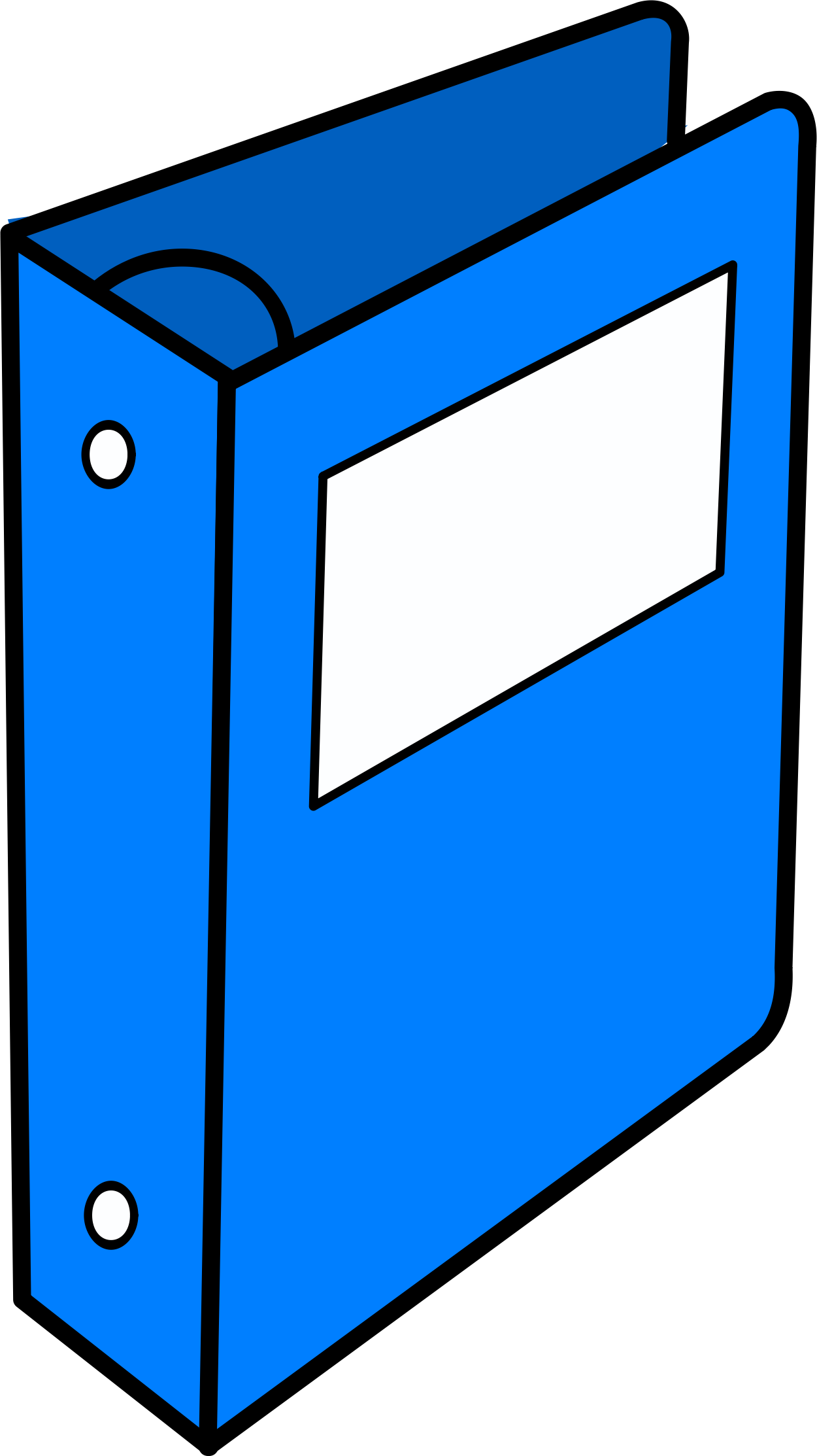 Binder drawing. Clipart blue big image