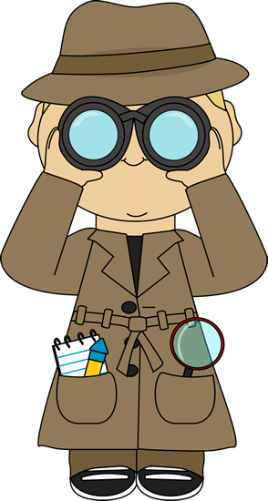 Binocular clipart child. Detective with binoculars this