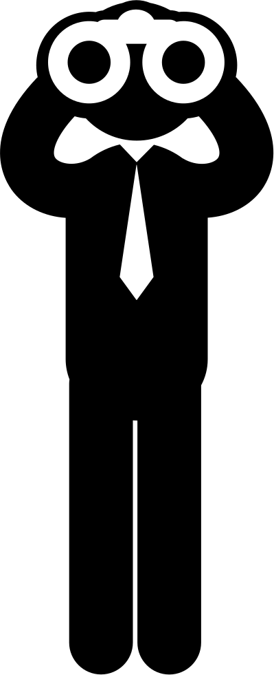Binocular clipart man. Standing business looking through