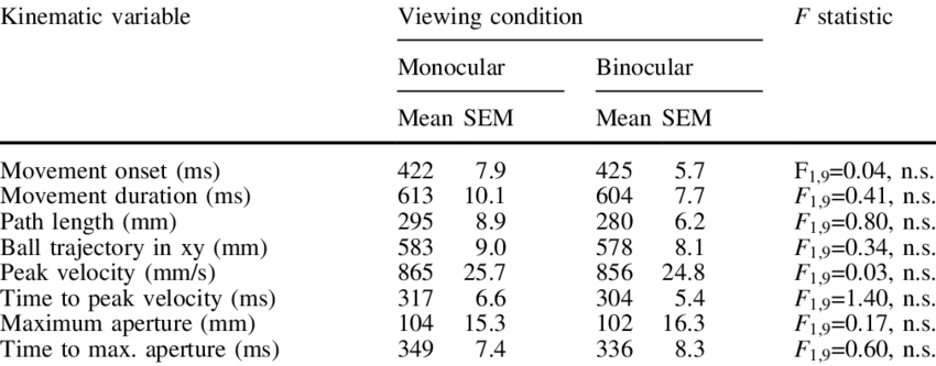 Binocular vision png. Of the effect on