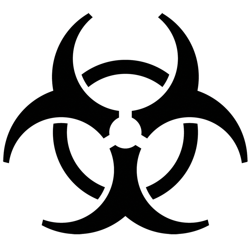 Biohazard transparent clear background. Symbol png images all