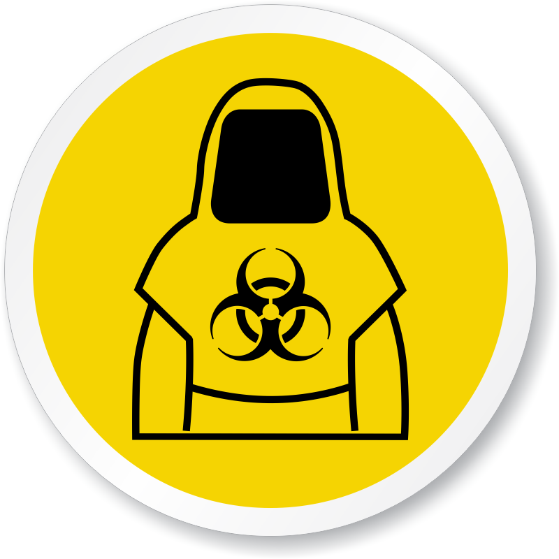 Biohazard transparent contaminated. Clothing signs soiled linens