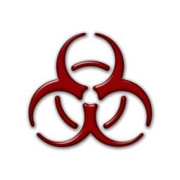 Warning icon pc visual. Biohazard transparent red clip art royalty free library
