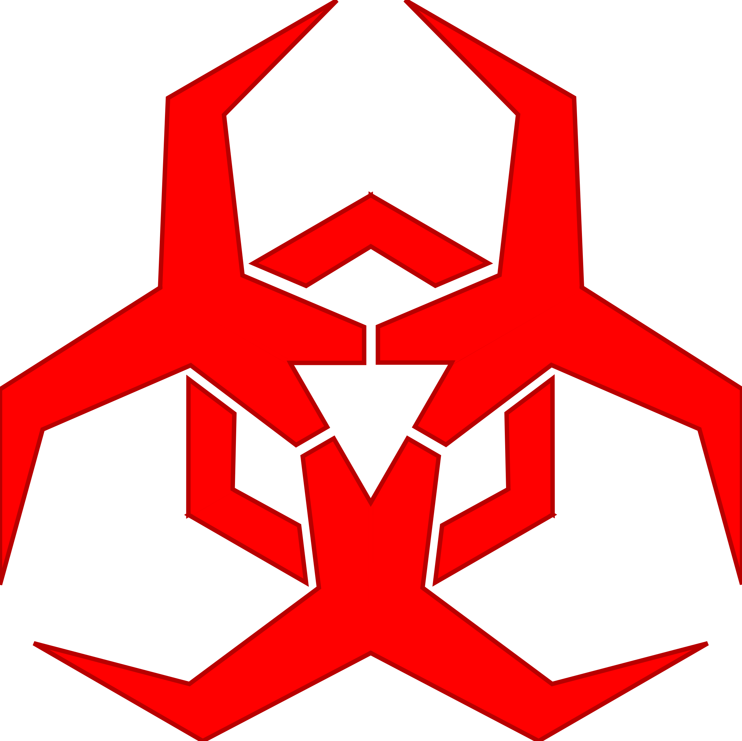 Malware hazard symbol by. Biohazard transparent red stock
