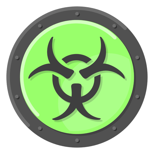Biohazard transparent svg. Warning green png vector