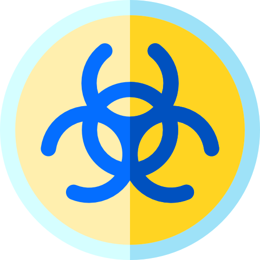 Biohazard transparent text. Free signs icons icon