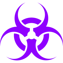 Violet icon free sign. Biohazard transparent toxic picture black and white download