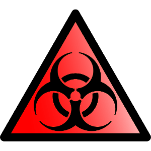 Biohazard transparent triangle. Download free png image