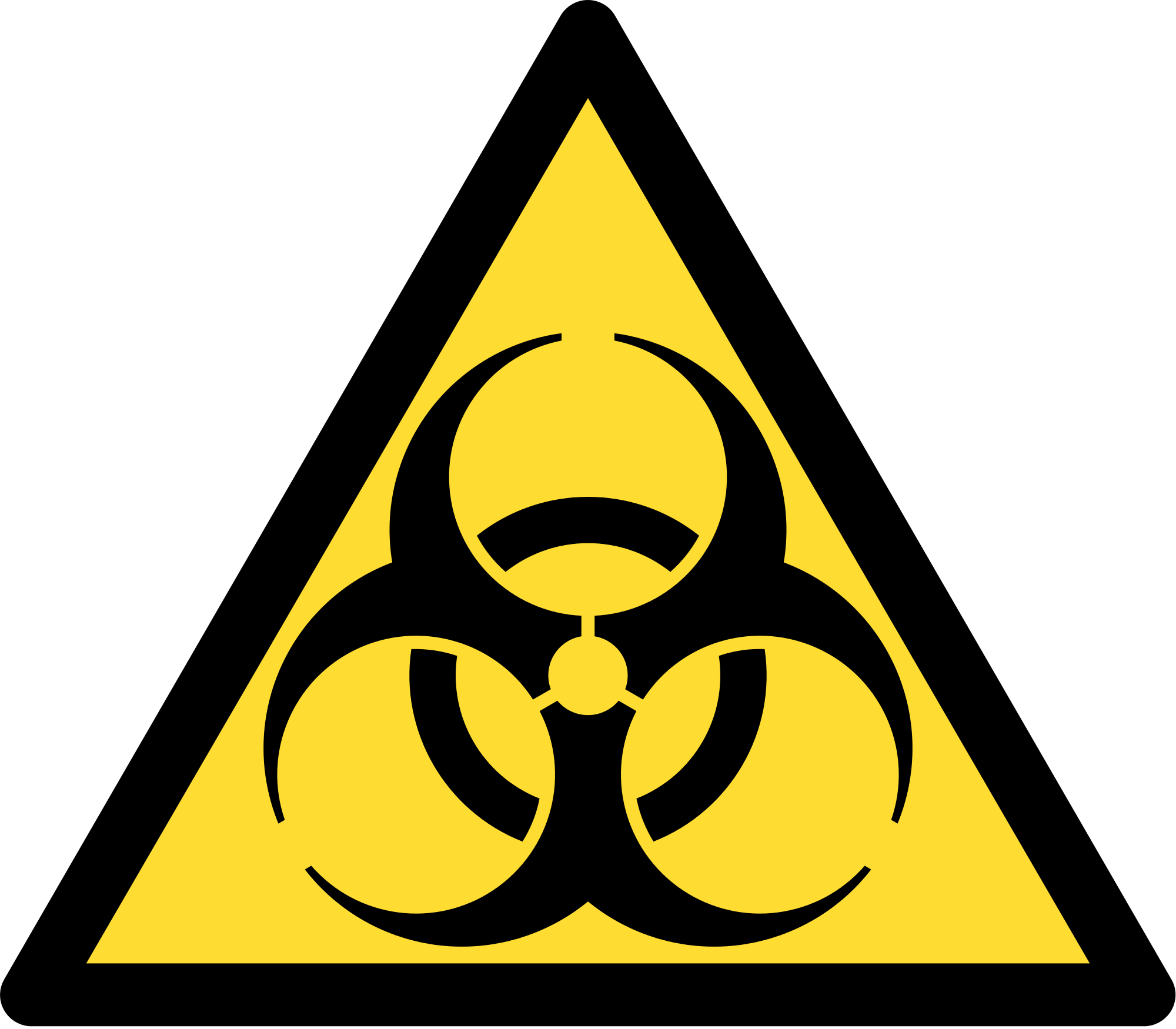 Biohazard transparent triangle. Gray technical llc