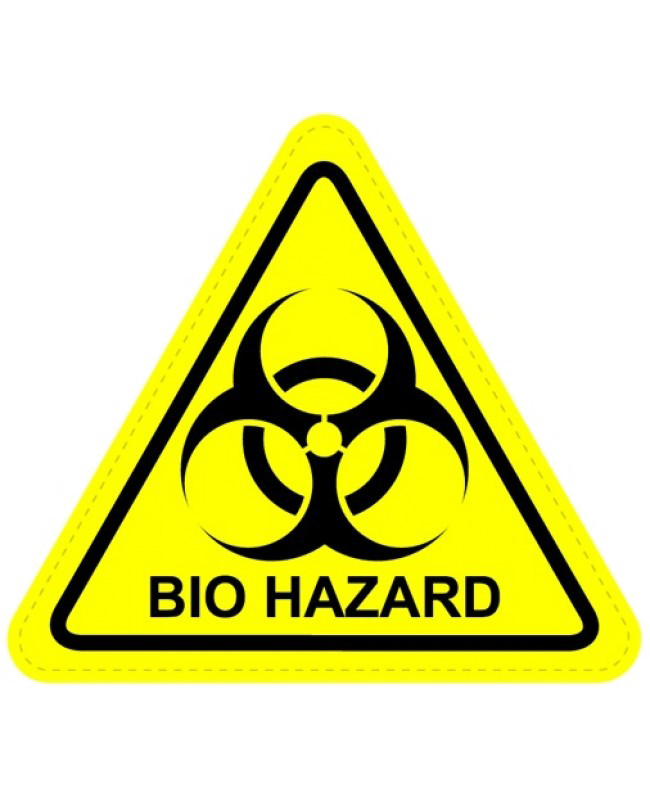 Biohazard transparent triangle. Png image arts