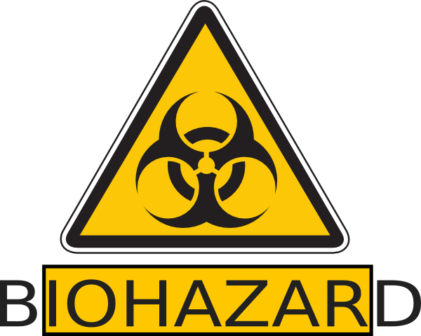 Biohazard transparent triangle. Clip art at clker