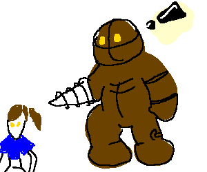 A big daddy finds. Bioshock drawing clip transparent