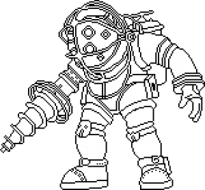 Pixilart big daddy by. Bioshock drawing picture transparent download