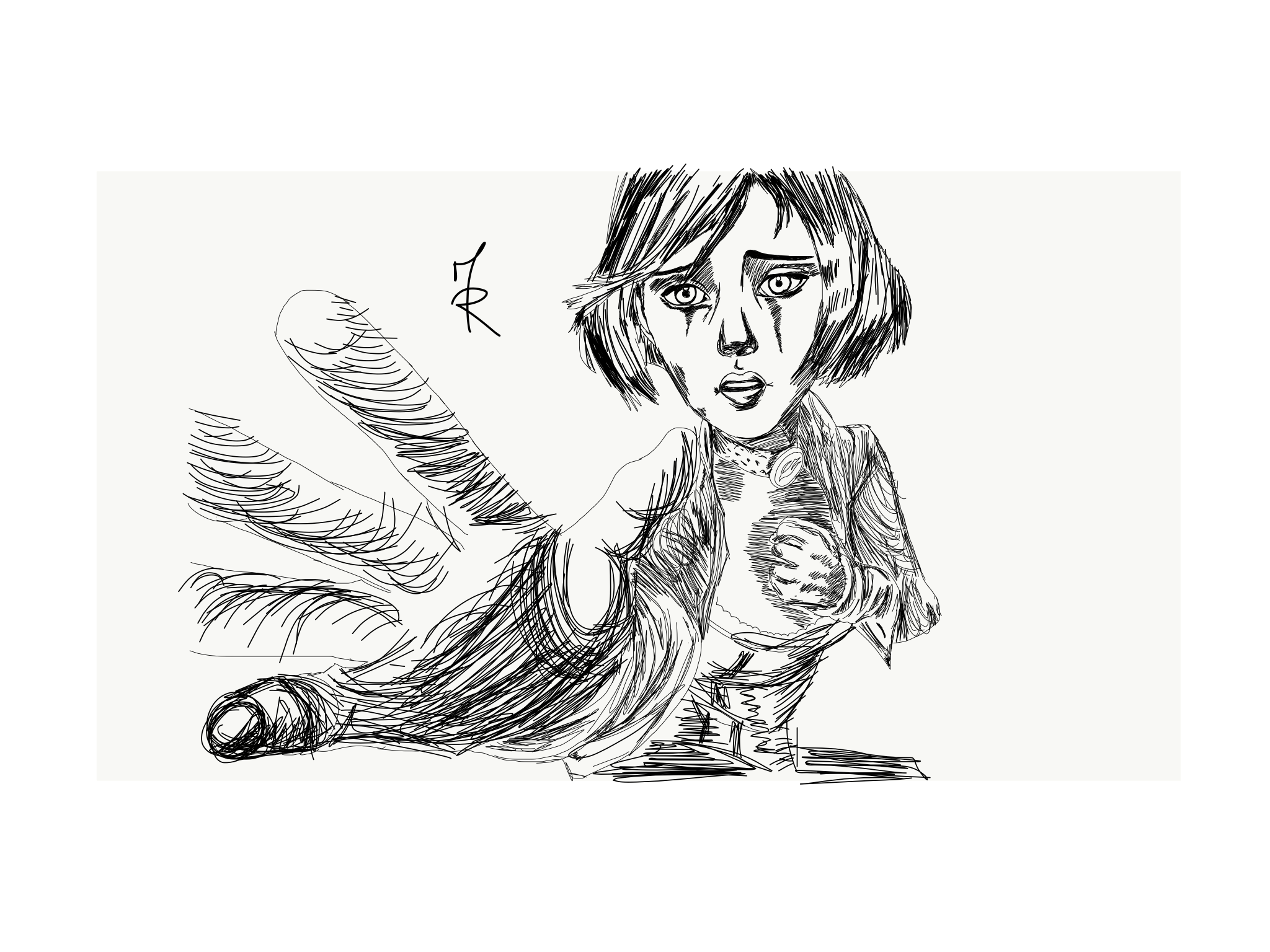 Elizabeth from infinite sketch. Bioshock drawing easy clipart freeuse library