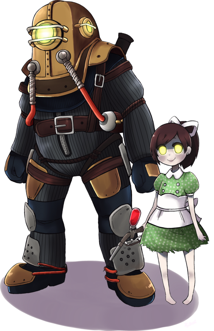 Bioshock drawing little sister. Big daddy and by