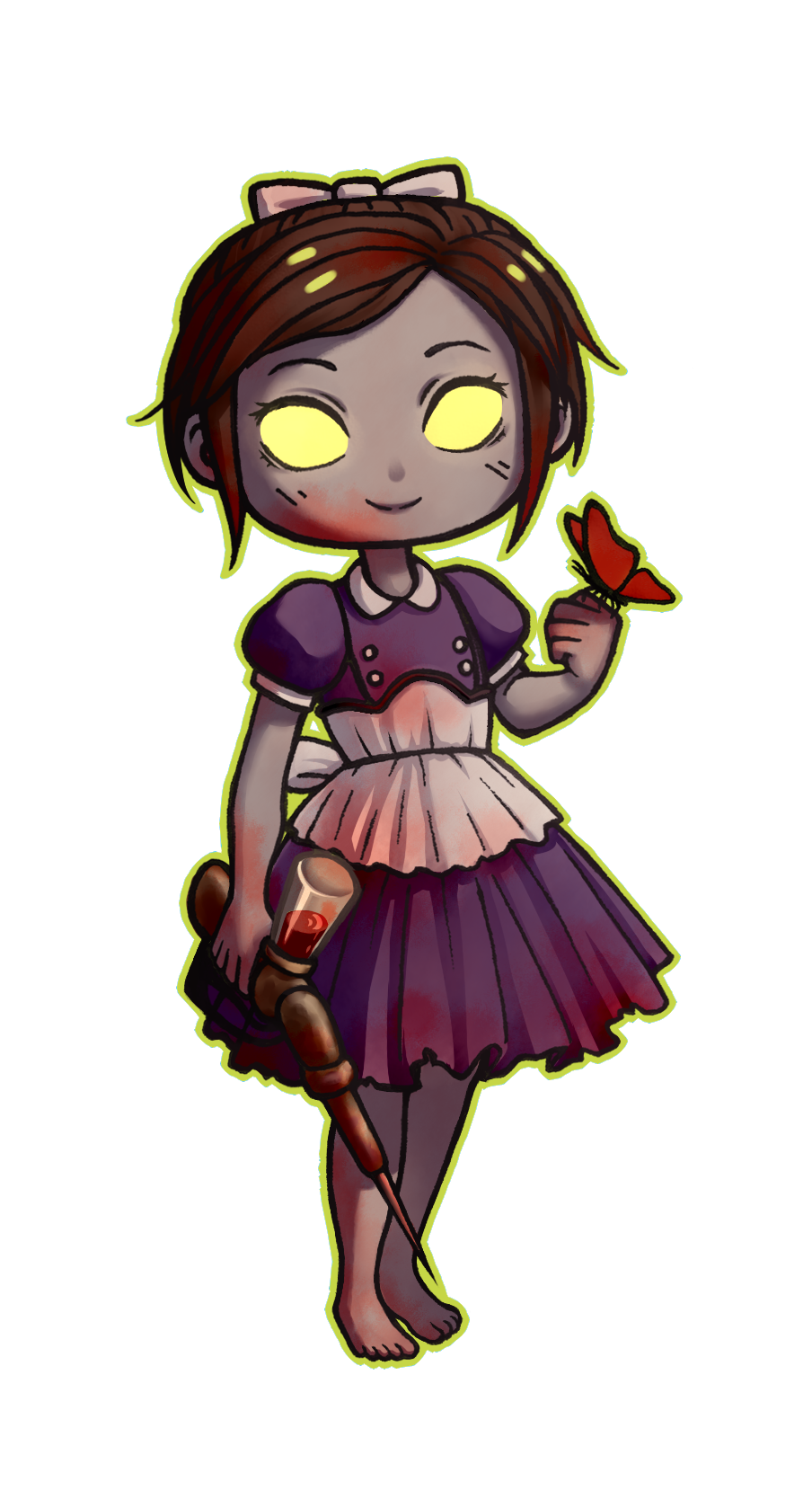 Bioshock drawing sister location. Little charm on storenvy
