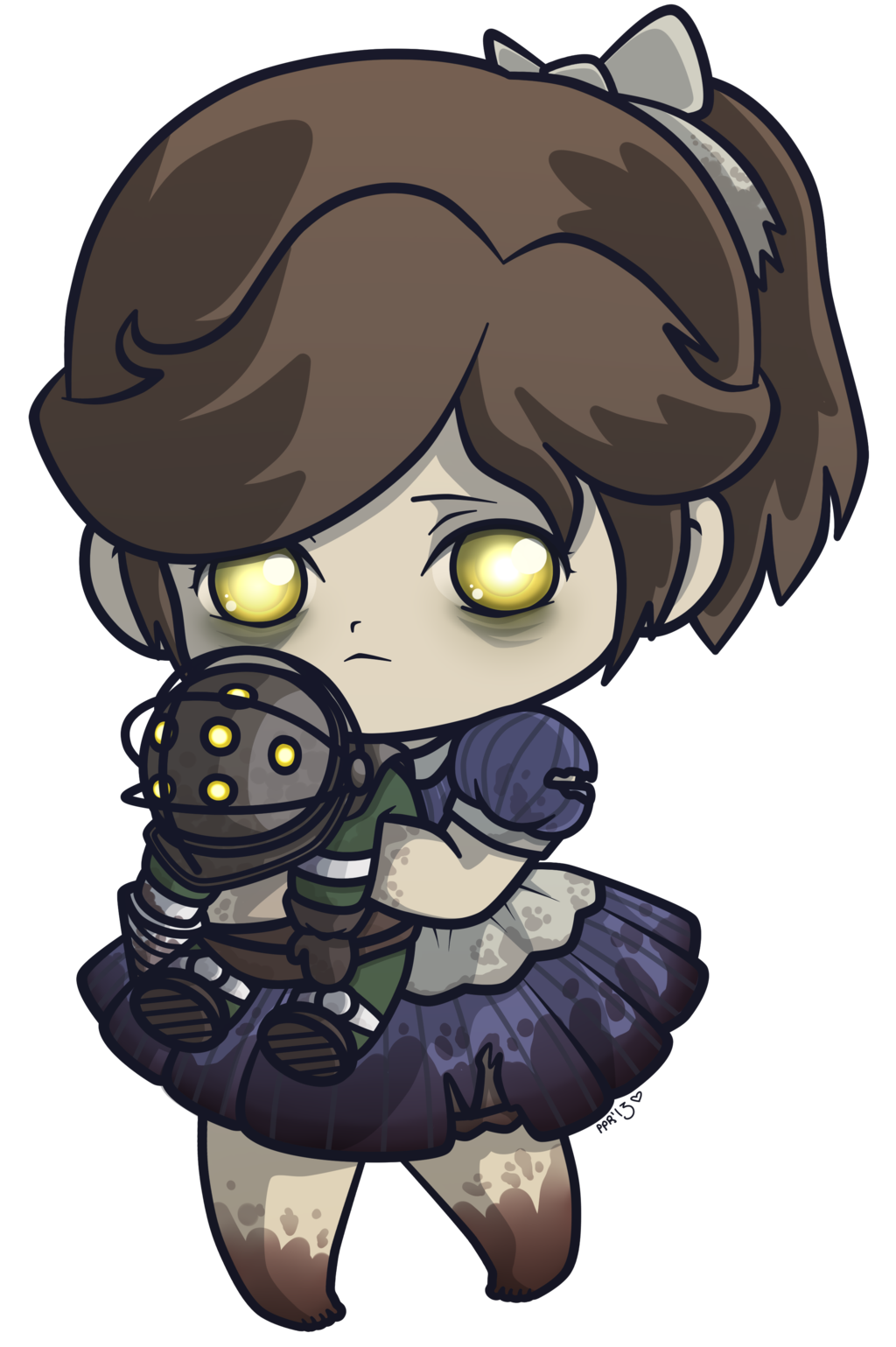 Bioshock drawing. Chibi little sister know