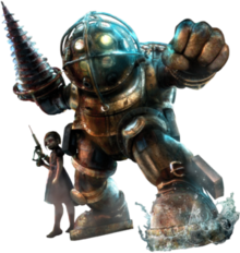 bioshock transparent big daddy helmet