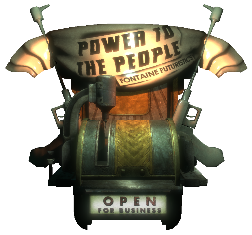 Bioshock transparent atlas statue. Power to the people
