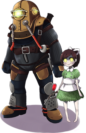 Bioshock transparent big brother. Daddy in remnant by