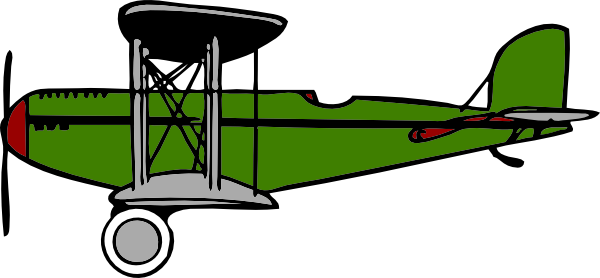 Biplane clipart template. Green clip art at