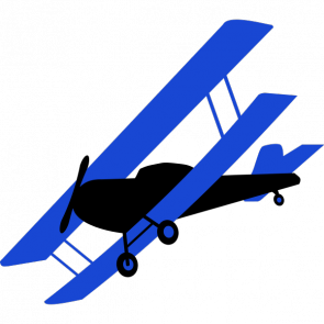 Biplane clipart. Blue clip arts for