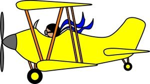 Biplane clipart. Airplane cartoon clip art