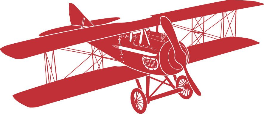 Biplane clipart old fashioned. Stick em up studio