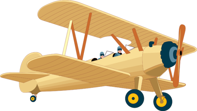 Biplane clipart propeller plane. Modes of transportation airplanes