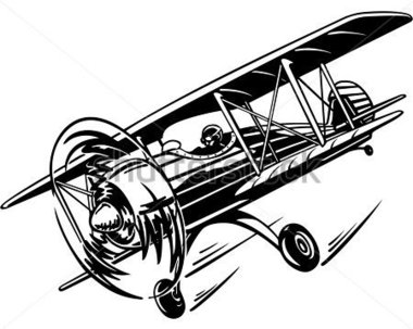 Biplane clipart propeller plane. Silhouette at getdrawings com