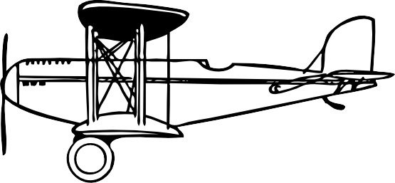 Biplane clipart propeller plane. Vector free download for