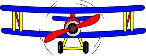Biplane clipart propeller plane. Image an old time