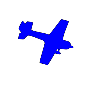 Blue aircraft. Free plane cliparts download