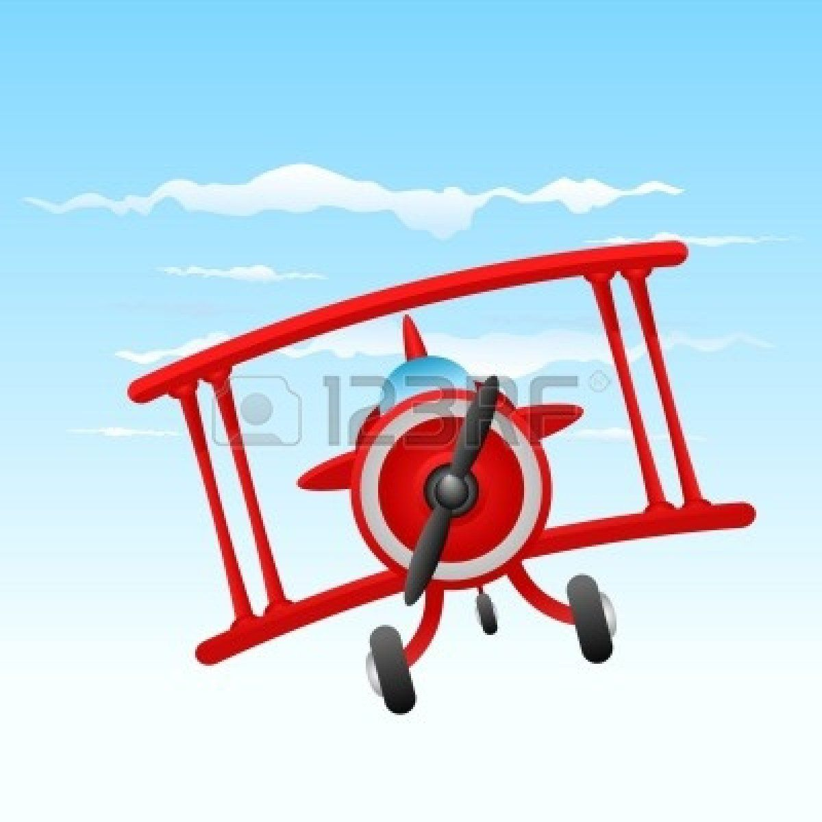 Biplane clipart vintage. Red blue ck theme